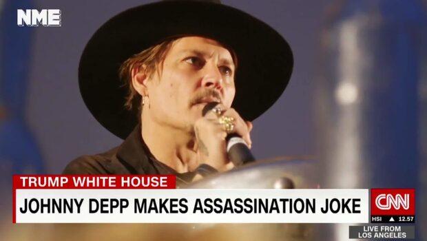 """Depp: """"När lönnmördade en skådespelare en president senast?"""""""