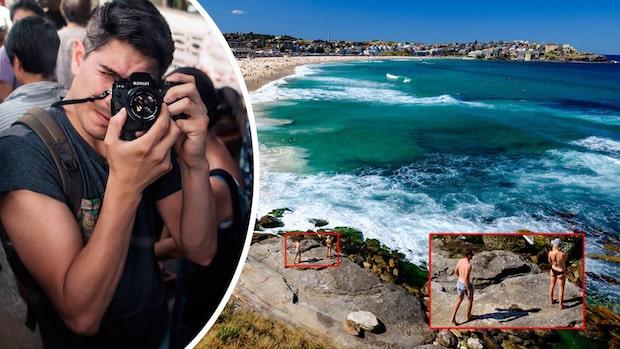 Backpackern tog bilder på stranden – efteråt gjorde han den otroliga upptäckten