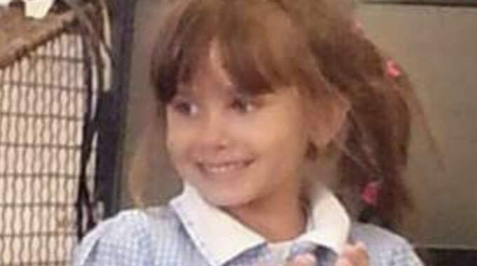 Katie Rough, 7, mördades på väg hem från skolan. Foto: Ap / AP TT NYHETSBYRÅN