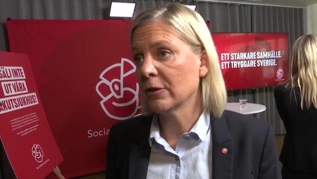 """Magdalena Andersson (S): """"Ett frunktansvärt beteende"""""""