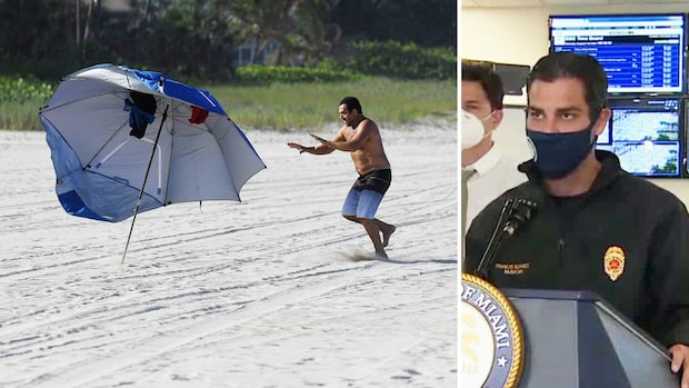 "Miamis borgmästare om orkanen Isaias: ""Stanna inomhus"""