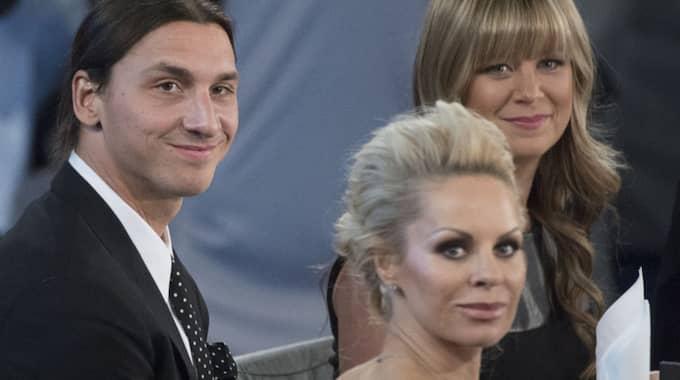 Zlatan Ibrahimovic och Helena Seger Foto: Tommy Pedersen