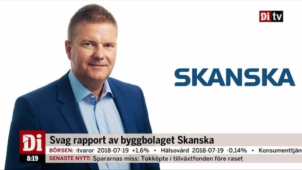 Skanskas vd: Inte nöjda med byggverksamheten