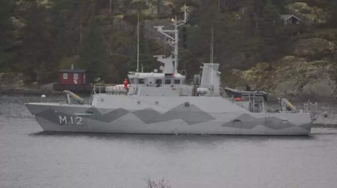 HMS Spårö syntes i Stockholms skärgård.