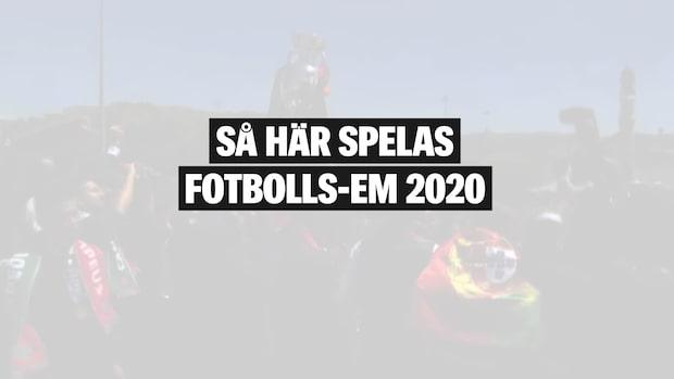 Så spelas fotbolls-EM 2020