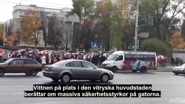 Rekordstora protester i Minsk – demonstranternas ultimatum