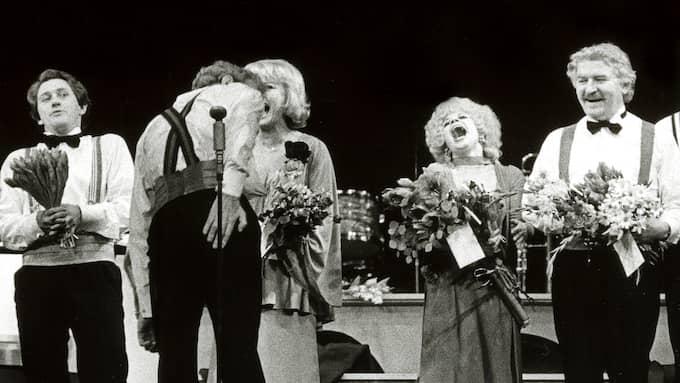 """Tommy Körberg var en av de medverkande i Hasse och Tages """"Svea Hund"""", som sattes upp på Göta Lejon 1976. Foto: HANS JAKO"""