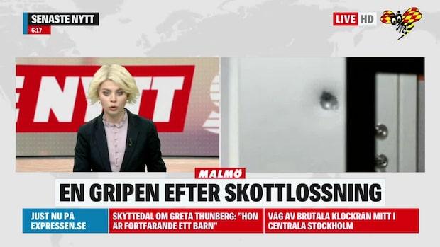En gripen efter misstänkt skottlossning i Malmö