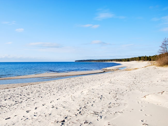 Hitta paradiset vid Byrum på norra Öland.