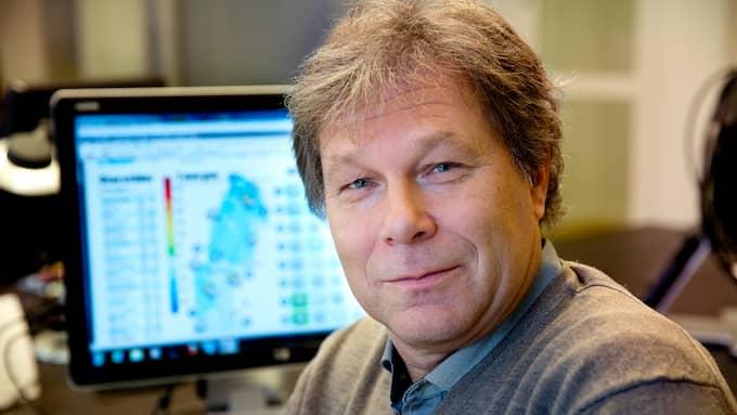 """Johan Groth är meteorolog vid väderinstitutet Storm. """"De som ska löpa på lördag har dragit en vinstlott"""", säger han. Foto: YLWA YNGVESSON"""