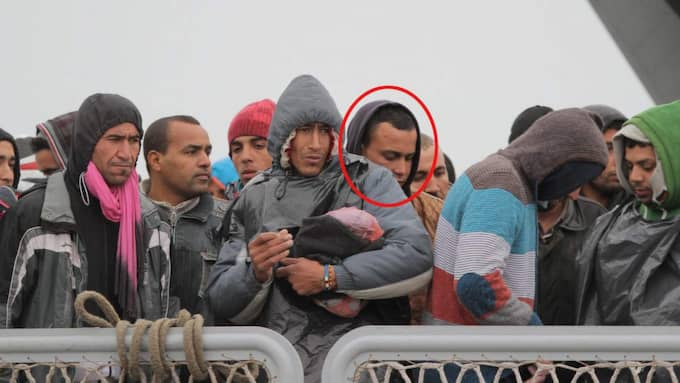 Abdelmajid Touil, 22, tog sig till Italien via en av de många båtarna med migranter. Foto: Pasquale Claudio Montana Lampo