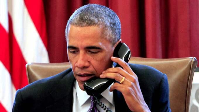 Obama mottog samtal om händelsen från Frankrikes president. Foto: Dennis Brack