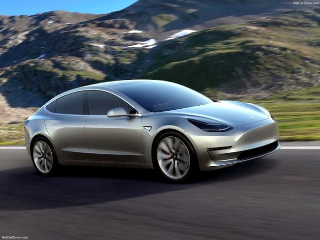 Tesla går hem hos männen – här en Model 3.
