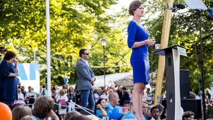 Anna Kinberg Batra håller tal i Almedalen 2016. Foto: CHRISTIAN ÖRNBERG