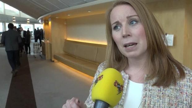 """Annie Lööf (C) om integrationen: """"Stefan Löfven stod svarslös"""""""