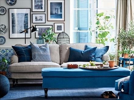 Den här modellen av soffan Stocksund har blivit 1 000 kronor billigare.