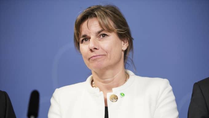 Klimatminister Isabella Lövin (MP) är nöjd över att Sverige enligt en ny mätning leder EU-ländernas resa för att uppnå målen i klimatuppgörelsen i Paris. Foto: Olle Sporrong / EXPRESSEN EXPRESSEN