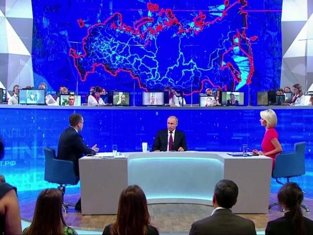 I dag höll Rysslands president Vladimir Putin sin årliga tv-utfrågning