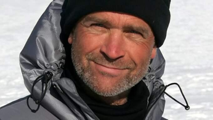 Upptäcktsresaren Henry Worsely har dött. Han blev 55 år. Foto: Henry Worsley / Swns.Com