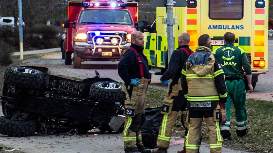 En person död efter olycka med fyrhjuling i Smedjebacken