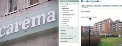 Skandalen upptäcktes när en boende på Kristallgården i Älvsjö. Foto: Scanpic/Carema