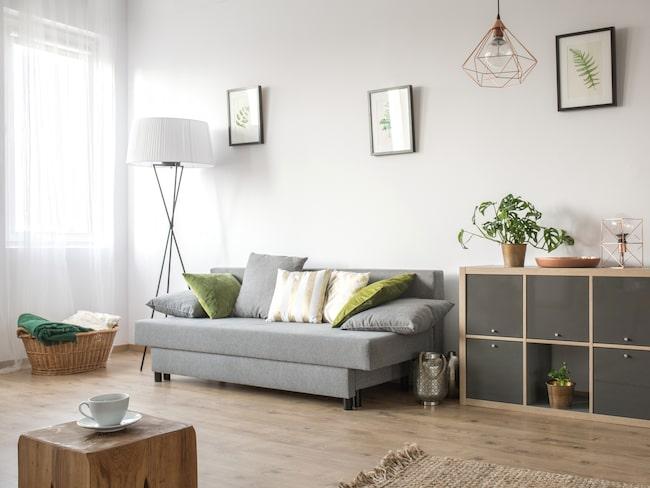 Ljus färger är definitivt att föredra när du inreder ett litet utrymme.