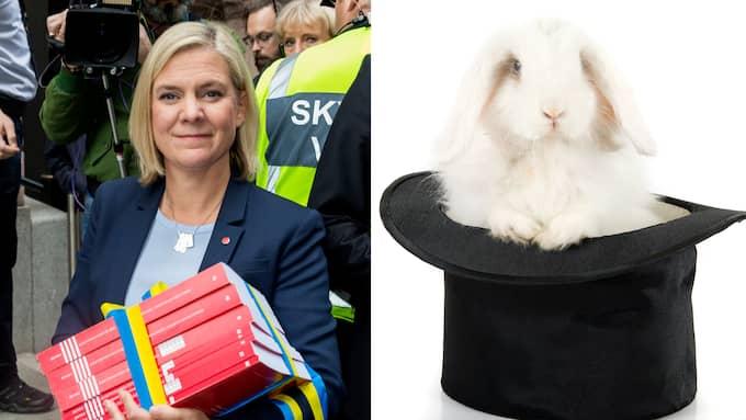 I stället för att erkänna att bistrare tider väntar går Magdalena Andersson till val på att låtsas kunna trolla med välfärdens finansiering. Foto: ROBERT EKLUND / STELLA PICTURES