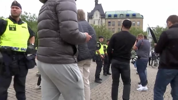 Tre gripna vid islamkritisk demonstration