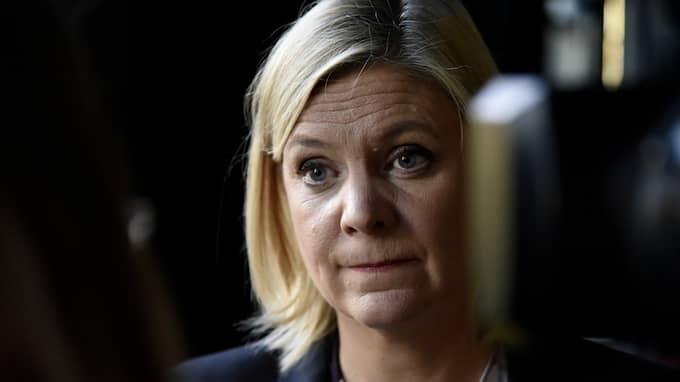 Finansminister Magdalena Andersson, S, vill göra mer för äldre nära fattigdomsgränsen. Foto: THOMMY TENGBORG/TT