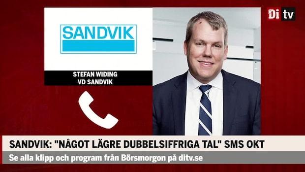 Sandviks vd: Väldigt försiktiga med att säga något om framtiden