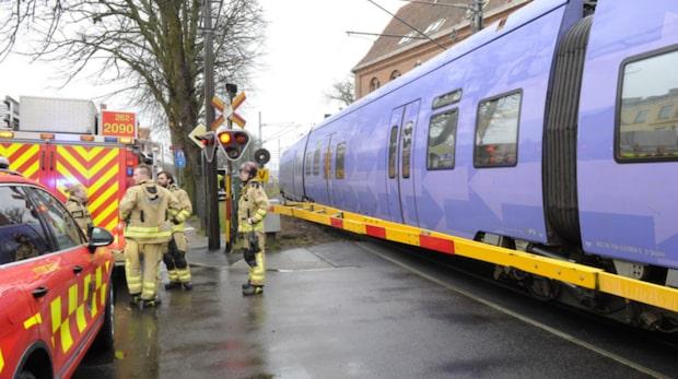 Person påkörd av tåg – svårt skadad