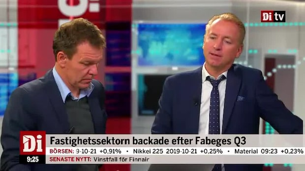 Fastighetssektorn backade efter Fabeges Q3