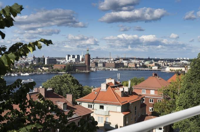 Utsikten från lägenheten som Rikard Wolff nu säljer. Foto: Sotherbys