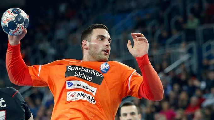 Mario Lipovac – matchens lirare i Skånederbyt. Foto: DARKO BANDIC / AP TT NYHETSBYRÅN
