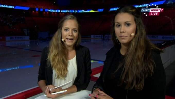 Hon har även varit expert i tv – här med Isabel Boltenstern i Eurosport Foto: / EUROSPORT