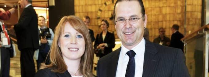 Annie Lööf och Anders Borg. Foto: Olle Sporrong
