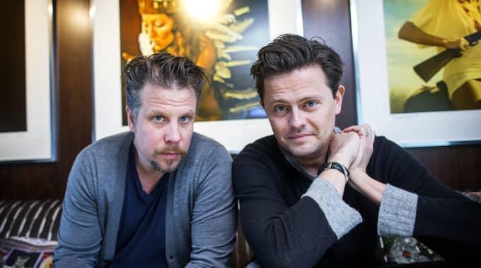 Filip Hammar och Fredrik Wikingsson ska de vara kanalröster på Kanal 5. Foto: ANDERS YLANDER GT/EXPRESSEN
