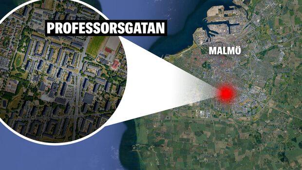 Skottlossning i Malmö – man förd till sjukhus