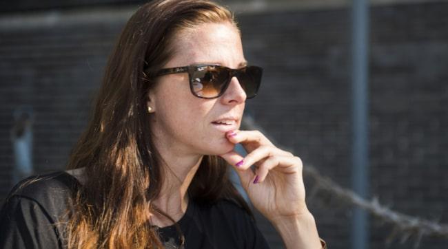 """Lotta Schelin vill bryta mens-tabut: """"Man kartlägger oss elitidrottare, man vet allt och gör allt från hjärtundersökningar till blodprover. Men man har inte någon gång kartlagt min menstruation och hur den påverkar mig""""."""