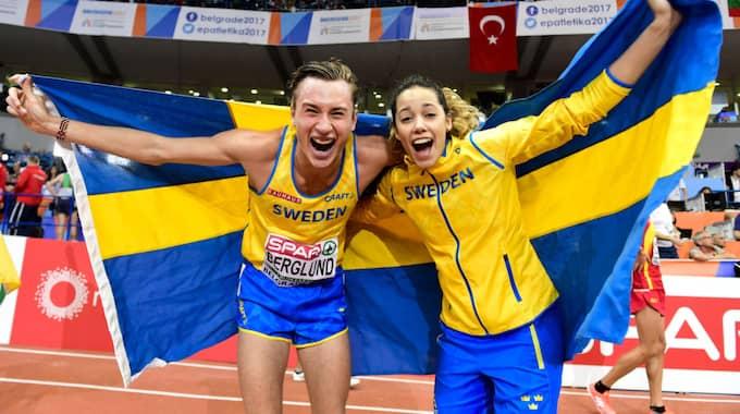 Kalle Berglund och Angelica Bengtsson. Foto: Petter Arvidson / BILDBYRÅN