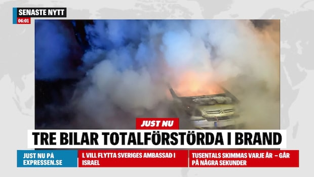 "Flera bilar i brand i natt: ""Utbrända"""