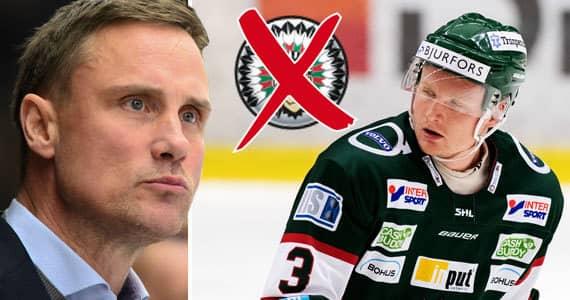 Frölundas tränare Roger Rönnberg fick klara besked av Carl Grundström innan han åkte över. Foto: TT & BILDBYRÅN