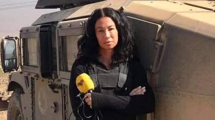 På Twitter och Facebook vittnar människor om hur de grips av Magda Gads vittnesbörd från krigets Irak. Foto: MAGDA GAD