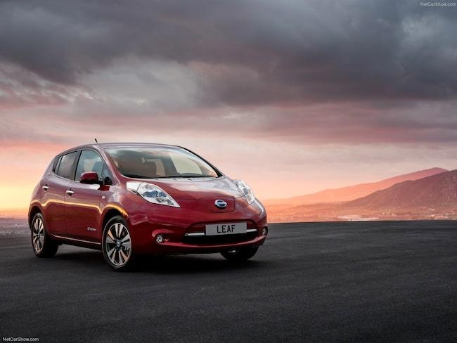 Nissan Leaf, både den gamla och nya modellen, finns på Wayke. Men inte heller den haussade bilen har ökat det totala antalet sökningar för miljöbilar hos MRF:s marknadsplats.