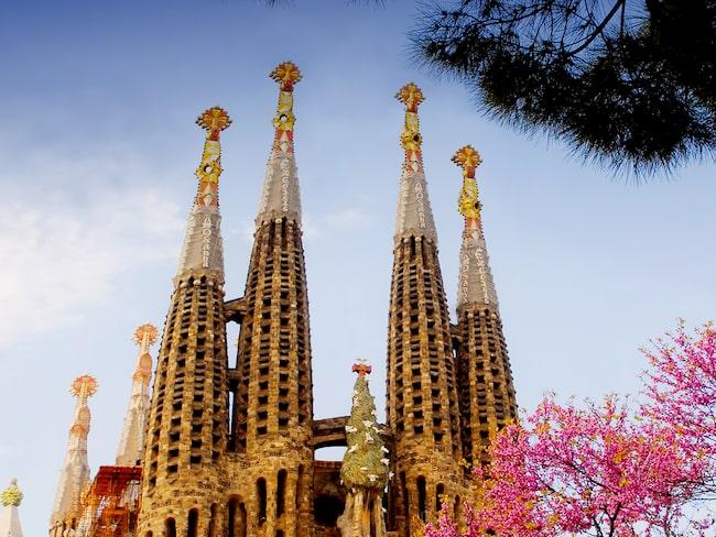 Barcelonas stolthet La Sagrada Familia i Spanien kom på plats nummer 6 av de mest populära sevärdheterna i världen under 2018.
