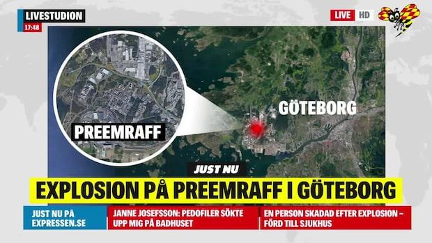 En skadad efter explosion på Preemraff