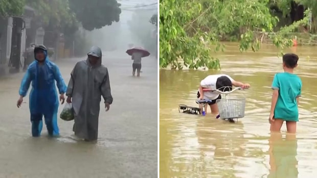 Se de galna bilderna på översvämningarna i Vietnam