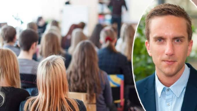 Isak Skogstad, ordförande Lärarnas riksförbunds studerandeförening. Foto: Shutterstock och privat
