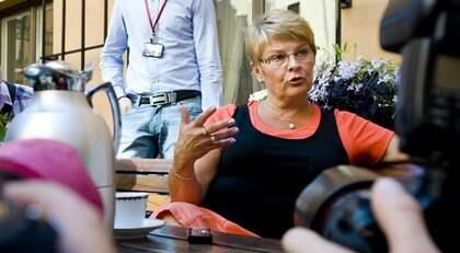"""HOPPAR AV EFTER VALET. Maud Olofsson slutar snart som partiledare. """"Det har börjat pratas om en efterträdare och när partiet börjar prata om det så stämmer det nog, säger en centerpartist till Expressen. Foto: Olle Wande"""