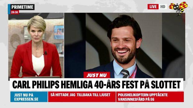 Kronprinsessan tog helikoptern – till hemliga 40-årsfesten